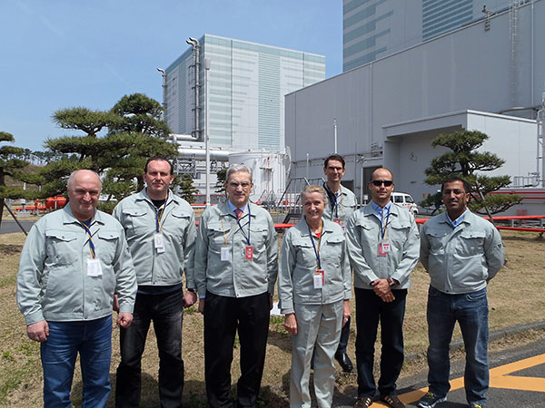 Leonid A. Bolshov with a delegation of the 46th Annual Conference of the Japan Atomic Industrial Forum (JAIF) at Fukushima Daini NPP, April 23-26, 2013